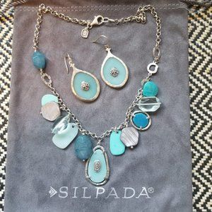 Silpada 50 Shades of Blue Stone Necklace N2321